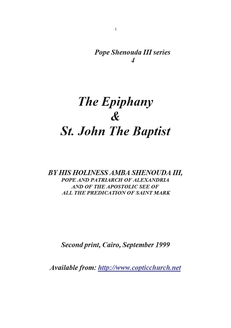 The Epiphany & St. John the Baptist